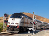Amtrak, Metrolink, UP at Moorpark, CA : Railfanning close to home while testing new settings on an old camera, 7-8-10.