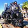 California Steamin', 5-1-10 : Santa Fe 4-8-4 No. 3751 heads the San Diego Steam Special 2010 southbound from Los Angeles Union Station on 5-1-10.